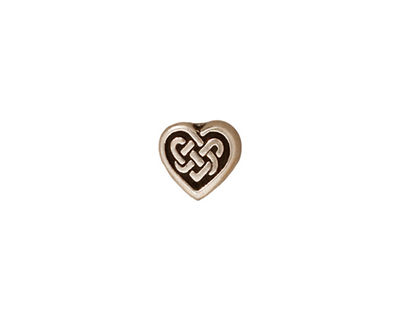 TierraCast Antique Silver (plated) Celtic Heart Bead 9x10mm