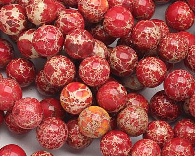 Red Impression Jasper Round 12mm