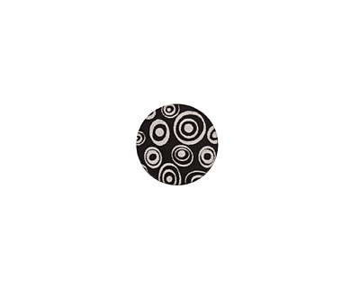 Lillypilly Black Groovy Circles Anodized Aluminum Disc 11mm, 22 gauge