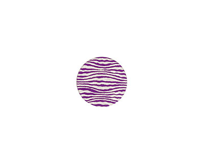 Lillypilly Purple Zebra Anodized Aluminum Disc 11mm, 24 gauge