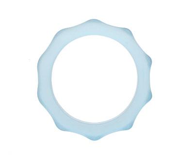 Trinket Foundry Steel Blue Glass Bottle Ring 57-70mm