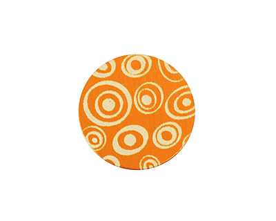 Lillypilly Orange Groovy Circles Anodized Aluminum Disc 19mm, 24 gauge
