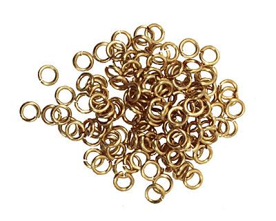 Artistic Wire Non-Tarnish Brass Chain Maille Jump Ring 3.18mm, 18 gauge