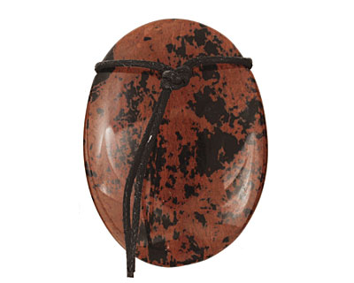 Mahogany Obsidian Freeform Pendant 28-36x47-57mm