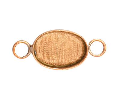 Copper Oval Bezel Link 19x15mm