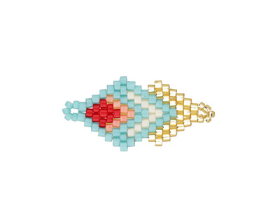 Palm Springs Hand Woven Double Diamond 28x13mm
