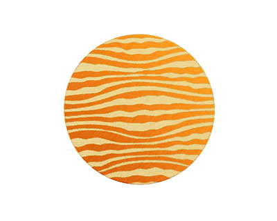 Lillypilly Orange Zebra Anodized Aluminum Disc 25mm, 24 gauge