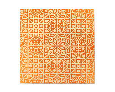 Lillypilly Orange Cross Stitch Anodized Aluminum Sheet 3