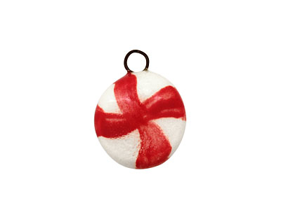 Jangles Ceramic Peppermint Charm 15x19mm