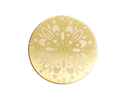Lillypilly Gold Kaleidoscope Anodized Aluminum Disc 25mm, 22 gauge