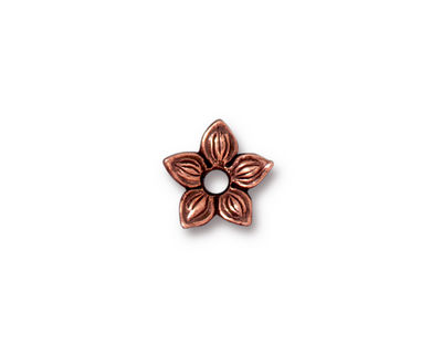 TierraCast Antique Copper (plated) Star Jasmine Rivetable 12mm