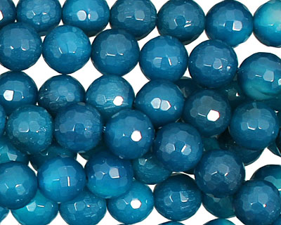 Sky Blue Agate Faceted Round 8mm