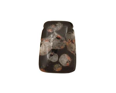 Black Leopardskin Jasper Pendant 18x25mm