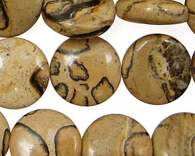 Madagascar Leopardskin Puff Coin 16mm
