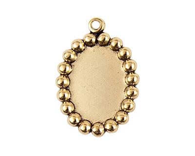 Nunn Design Antique Gold (plated) Vetri Beaded Oval Frame 20x28mm