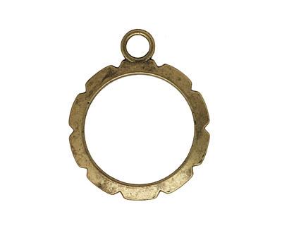 Artistic Wire Antique Brass Round Wrapper 28x34mm