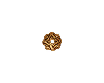 TierraCast Antique Gold (plated) Oasis Bead Cap 8mm