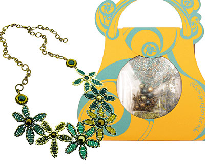 Glass Garden Forget-Me-Not Posey Necklace Kit