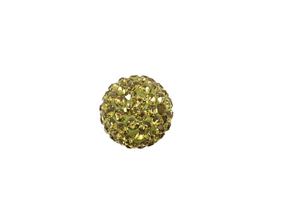 Olivine Pave Round 12mm