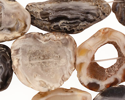 Druzy Agate Sliced Pieces 18-30x15-20mm