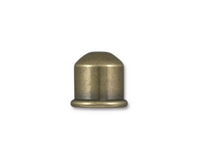 TierraCast Antique Brass (plated) Cupola 10mm Cord End 12x13mm