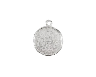 Nunn Design Sterling Silver (plated) Double Sided Bezel Pendant 23x27mm