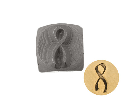 Awareness Ribbon Metal Stamp 6mm