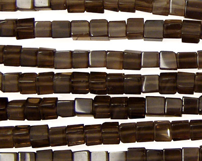 Smoky Quartz Cube 4mm