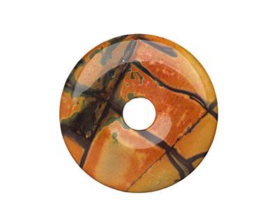 Purple Artistic Stone Donut 37-40mm