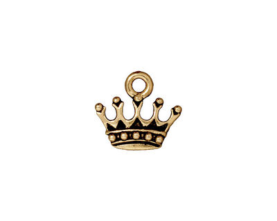 TierraCast Antique Gold (plated) King's Crown Charm 15x13mm
