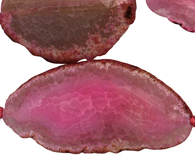 Fuchsia Agate Natural Edge Freeform Faceted Slab 41-67x24-30mm