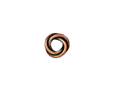 TierraCast Antique Copper (plated) Twisted Spacer 2x10mm