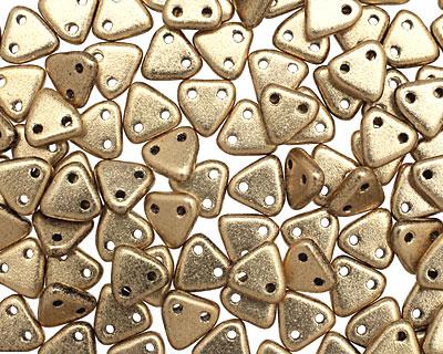 CzechMates Glass Matte Metallic Flax 2-Hole Triangle 6mm