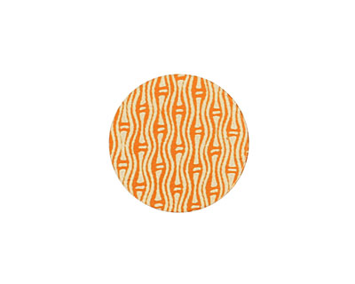 Lillypilly Orange Reeds Anodized Aluminum Disc 19mm, 24 gauge
