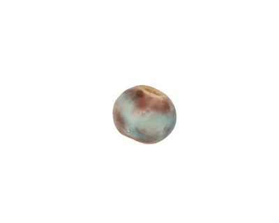 Gaea Ceramic Teal Organic Round 9-10x12-13mm