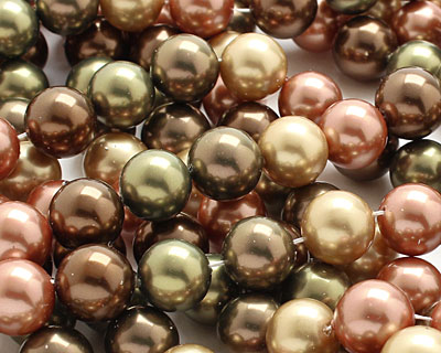 Harvest Shell Pearl Mix Round 12mm