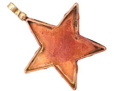 Patricia Healey Copper Star Bezel Pendant 45x56mm