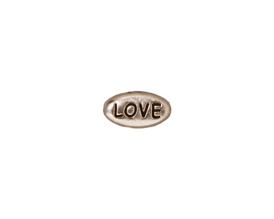 TierraCast Antique Rhodium (plated) Love Word Bead 11x6mm