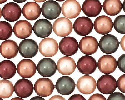 Berries Mix Shell Pearl Round 8mm