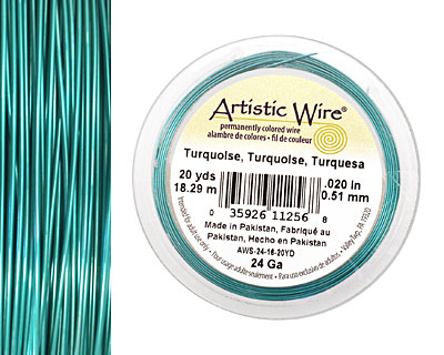 Artistic Wire Turquoise 24 gauge, 20 yards