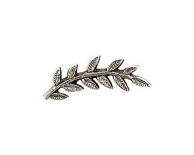 Nunn Design Antique Silver Left Leaf Toggle Bar 26x8mm