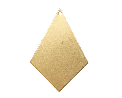 Brass Diamond Drop Blank 22x31mm