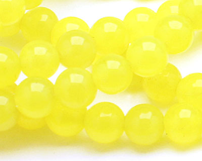 Neon Yellow Colorful Jade Round 6mm