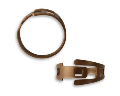 Vintaj Natural Brass Adjustable Ring Band 20mm