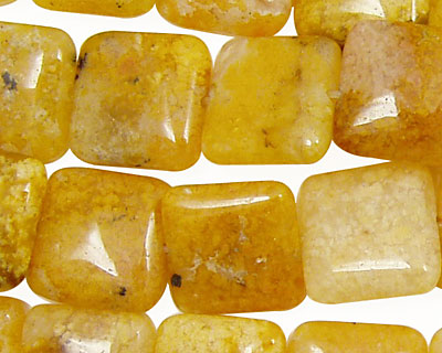 Natural Yellow Agate Puff Square 15mm