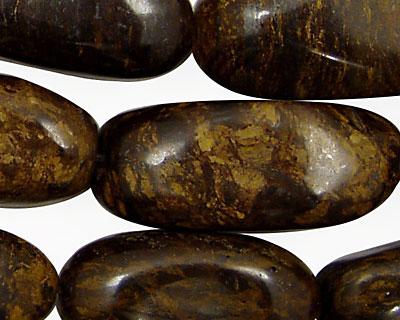 Bronzite Long Tumbled Rice 30-40x14-22mm