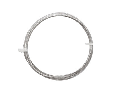German Style Wire Silver (plated) Check Pattern Round 16 gauge, 1 meter