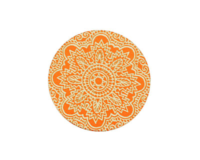 Lillypilly Orange Lace Anodized Aluminum Disc 25mm, 24 gauge