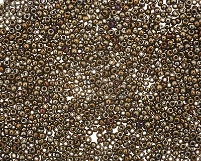 TOHO Metallic Iris Brown Round 15/0 Seed Bead