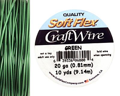Soft Flex Green Craft Wire 20 gauge, 10 yards